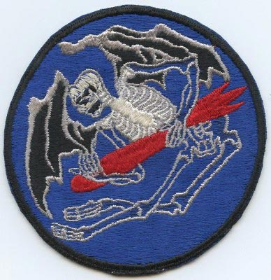 1970/'s Logo Embroidered Logo Wild Weasel Squadron Polo Shirt F-105 F-4